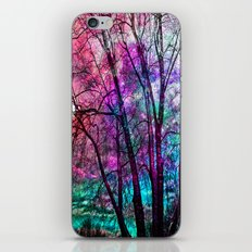 Purple teal forest iPhone & iPod Skin