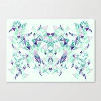 Kaleidoscopic print illustration  Canvas Print