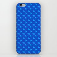 Dogs-Blue iPhone & iPod Skin