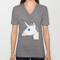 Unicorn emoji Unisex V-Neck