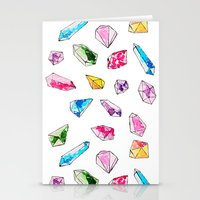 Watercolor Gem Stone  Stationery Cards