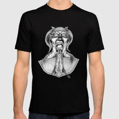 Prayer (Pencil) Mens Fitted Tee Black SMALL