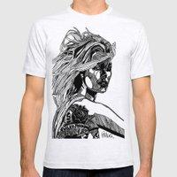 B&W Fashion Illustration - Wilko Johnson Mens Fitted Tee Ash Grey SMALL