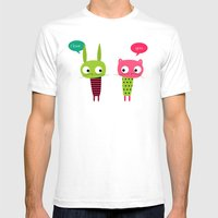 Little Friends Mens Fitted Tee White SMALL