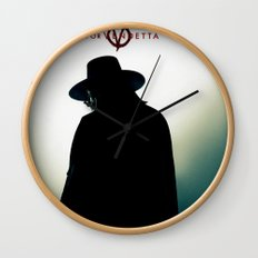 V for Vendetta (e4) Wall Clock