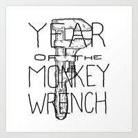 Year of the Monkey Wrench Art Print