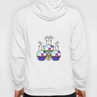 Cute Monster With Pink And Blue Polkadot Cupcakes Hoody