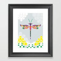 Dragon Fly Framed Art Print