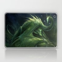 Green Crystal Dragon Laptop & iPad Skin
