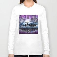 chicago city skyline Long Sleeve T-shirt