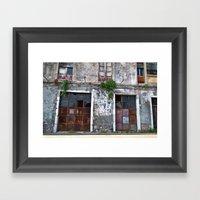 Old Sicilian Facade Of T… Framed Art Print