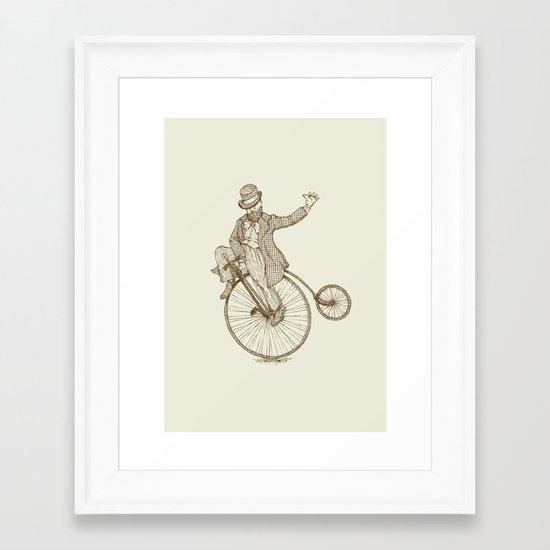 Flatland Penny Farthing Framed Art Print
