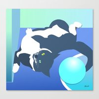 Jack Cat Does His Pushup… Canvas Print