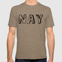 NAY Mens Fitted Tee Tri-Coffee SMALL