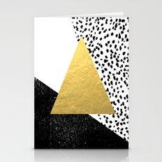 Rexa - Gold Abstract Min… Stationery Cards