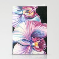 Pink Orchid Study Stationery Cards