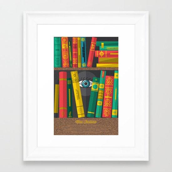 Miss Fortuna Poster Framed Art Print