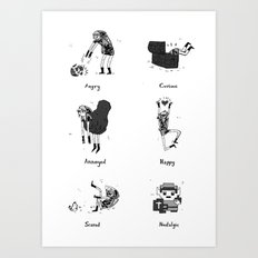 The Many Moods of a Hero Art Print