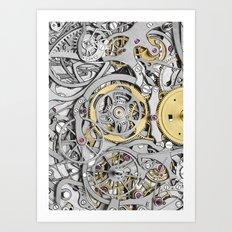 Watch Mechanism Art Print