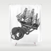 Release the Kraken Shower Curtain