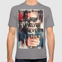 TOO SELF INVOLVED Mens Fitted Tee Tri-Grey SMALL
