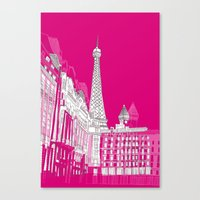 Glorious Paris - Pink Canvas Print