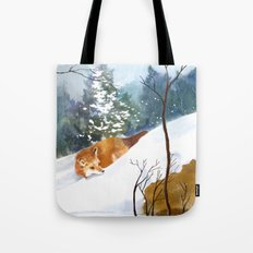 Which Way Did He Go? Tote Bag