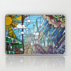 Hogwarts stained glass style Laptop & iPad Skin