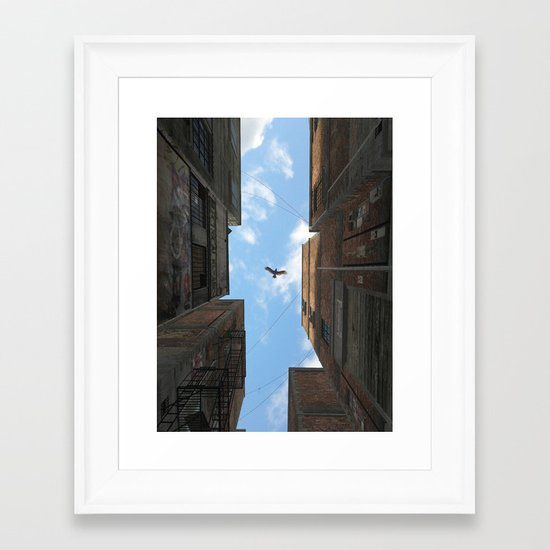 Afternoon Alley Framed Art Print