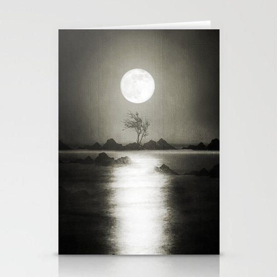 When the moon speaks (part III) Stationery Card