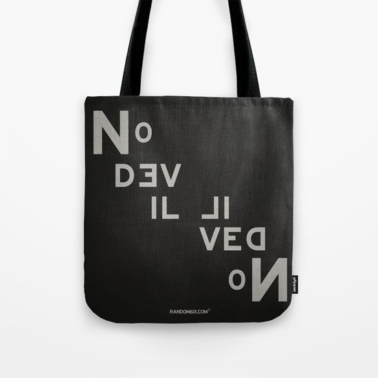 Palindrome: No Devil... Tote Bag