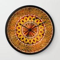 Four Dragons Mandala Wall Clock