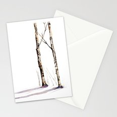 Birch Trees in January Stationery Cards