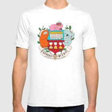 procrasti nation Mens Fitted Tee White SMALL