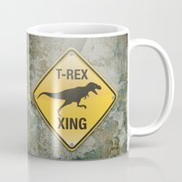 T-Rex Crossing Mug