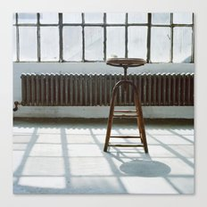 Stool in Factory Canvas Print