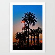 AFTER THE SUNSET Art Print