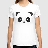 Panda Paul Womens Fitted Tee White SMALL