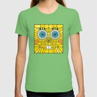 Spongebob Voronoi Womens Fitted Tee Grass MEDIUM