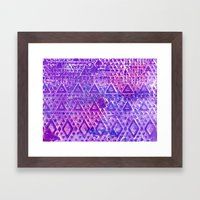 Purple Pyramiding Framed Art Print