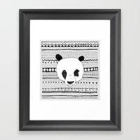 PANDA PATT! Framed Art Print