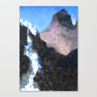 Canadian Mountain Scene Canvas Print