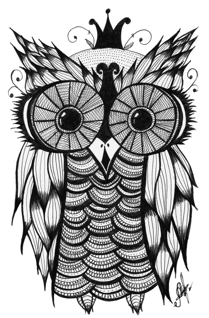 Owl art print by mrscaramelle society6 for Cool wall art drawings
