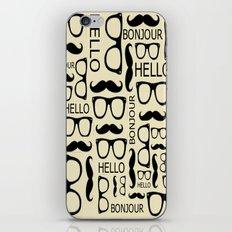 Hello, Bonjour iPhone & iPod Skin