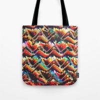 Colorful Geometric Motif Tote Bag