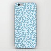 Baby Blue Leopard iPhone & iPod Skin
