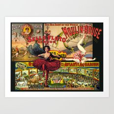 The Circus is in Town Art Print