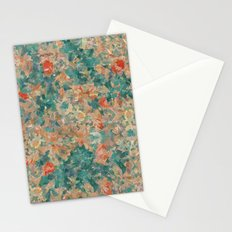 Study in Teal and Peach Stationery Cards