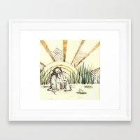 River Lady - Coloured Framed Art Print