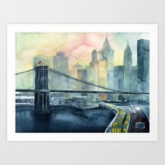 Good Morining New York Art Print